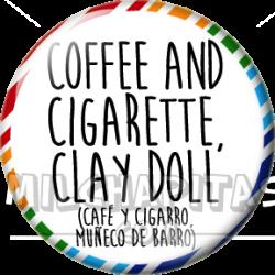 Café y cigarro muñeco de...