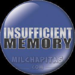 Memoria insuficiente