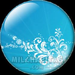 Abstracto azul y blanco