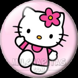 Hello Kitty saludando