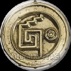 Moneda azteca maldita reverso